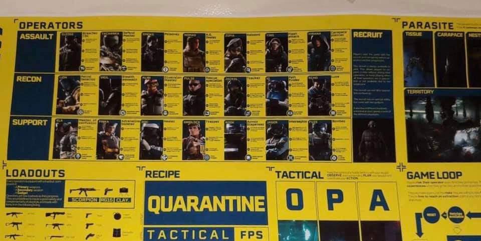Rainbow Six Quarantine Leaked Pamphlet 1